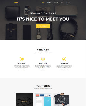 Screenshot from website template Golden Studio