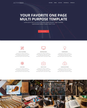 Screenshot from website template ActiveBox