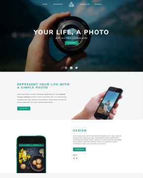 Screenshot from website template PhotoTime