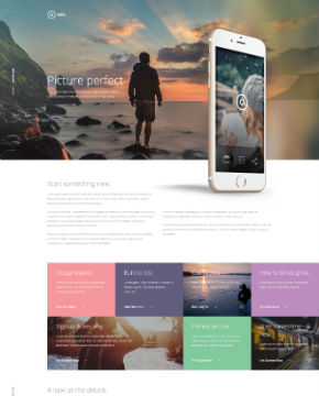 Screenshot from website template PicturePerfect